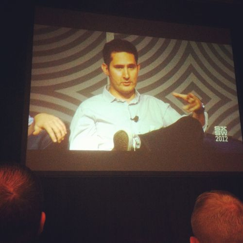 Kevin Systrom on stage during his Inside Instagram session.
