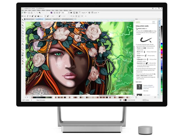 Rethinking Design with CorelDRAW on Microsoft Surface - cdgs 2017 on surface studio front light ui1